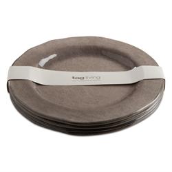 Tag  Melamine Gray Dinner Plates (Set of 4)  $46.95