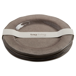 Tag  Melamine Gray Salad Plates (Set of 4) $35.95
