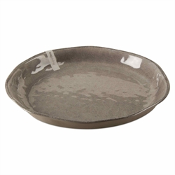 Tag  Melamine Gray Round Serving Tray $40.95
