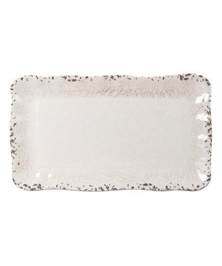 Tag  Melamine White Rectangle Tray $36.95