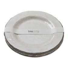 Tag  Melamine White Dinner Plates S/4 $50.95
