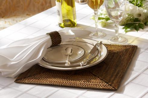 Calaisio Table Collection Handwoven  Placemat Placemat Square Set of 4 pcs $175.00