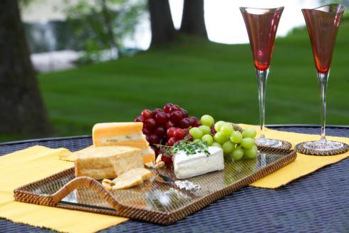 Calaisio Serving Collection Serving Trays With Glass Cheese Tray $103.00