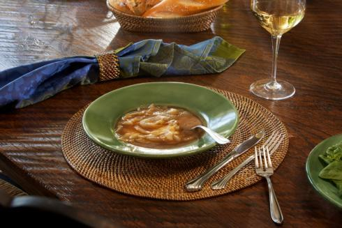 Calaisio Table Collection Handwoven  Placemat Placemat Round $158.00