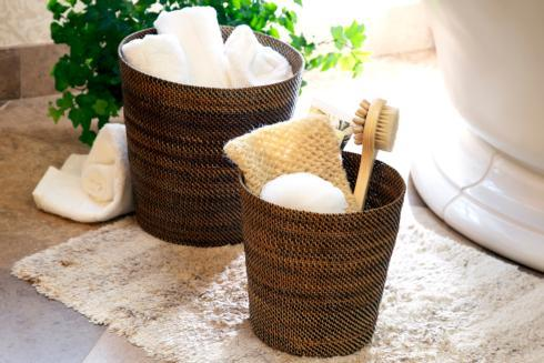 Calaisio Bathroom Collection Handwoven Waste Basket & Hamper Waste Basket $91.00