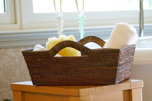 Calaisio Bathroom Collection Handwoven Tote Basket Tote Basket $114.00
