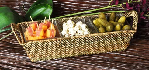 $119.00 Basket with Glass Bowl
