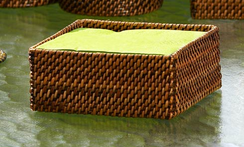 Calaisio Serving Collection Handwoven Basket Cocktail Napkin Holder $25.00