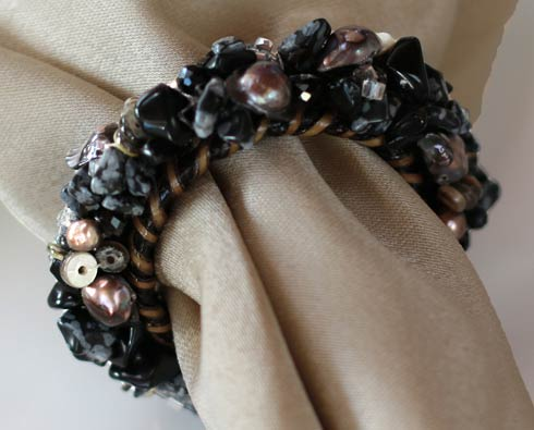 $57.00 Jewelled Napkin Ring