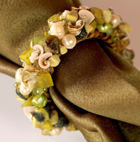 $58.00 Jewelled Napkin Ring Lemon