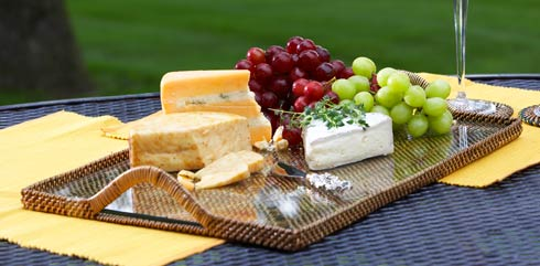Calaisio Serving Collection Handwoven Serving Trays & Platters Cheese Tray $78.00