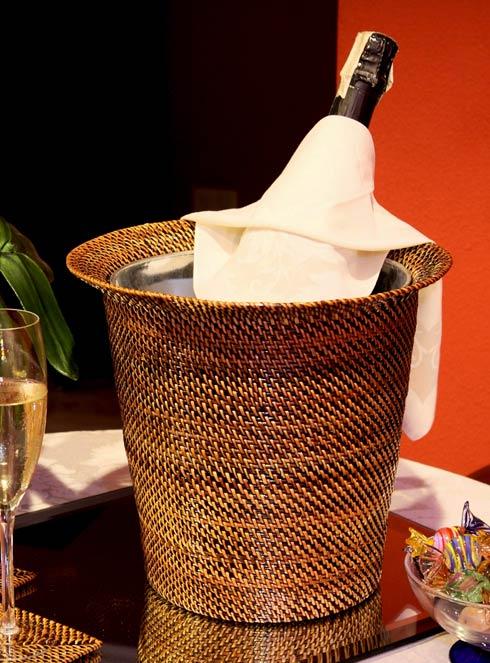 $114.00 Wine Holder with Galvanized bucket