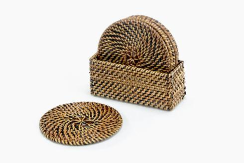 Calaisio Table Collection Handwoven  Coasters Drink Coasters $36.00