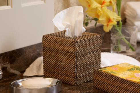 Calaisio Bathroom Collection Handwoven Bathroom Accessories Tissue Holder $42.00