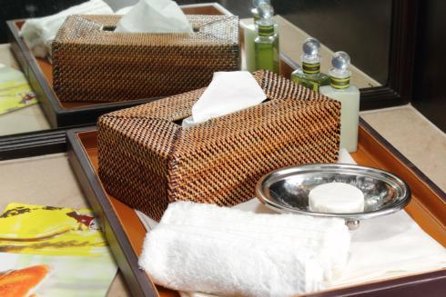 Calaisio Bathroom Collection Handwoven Bathroom Accessories Tissue Holder $47.00