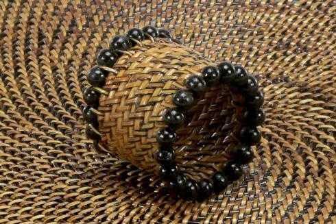 Beaded Napkin Ring Black image