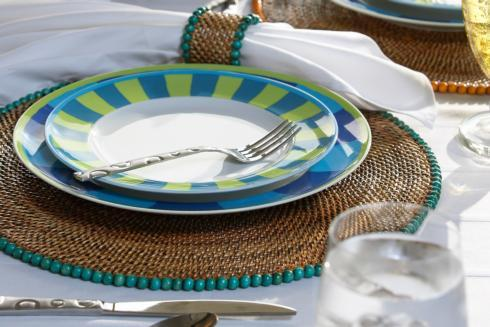 Placemat with Beads Seagreen