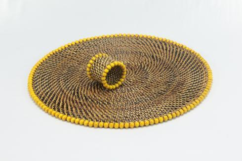 $172.00 Placemat with Beads Yellow Set of 4 pcs