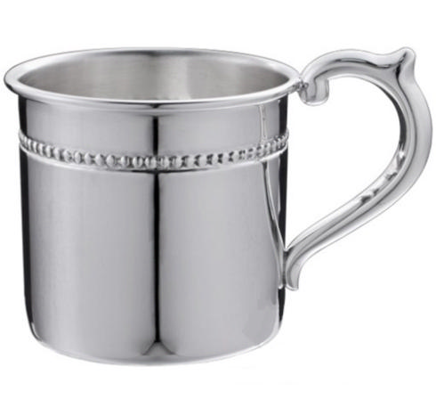 """$230.00 Pearls Sterling Baby Cup - H: 2 1/8"""" x Dia: 2 3/8"""""""