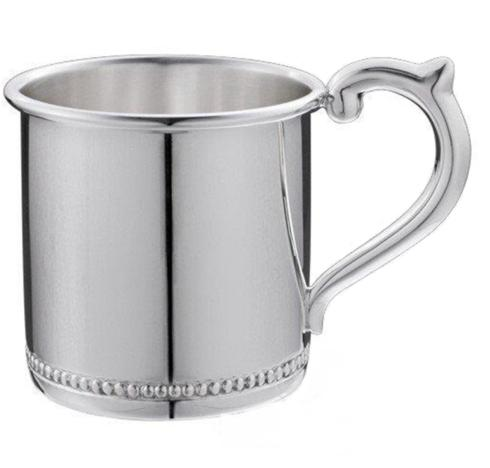"$230.00 Beaded Sterling Baby Cup - H: 2 1/8"" x Dia: 2 3/8"""