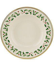$62.00 Holiday Rimmed Soup Bowl
