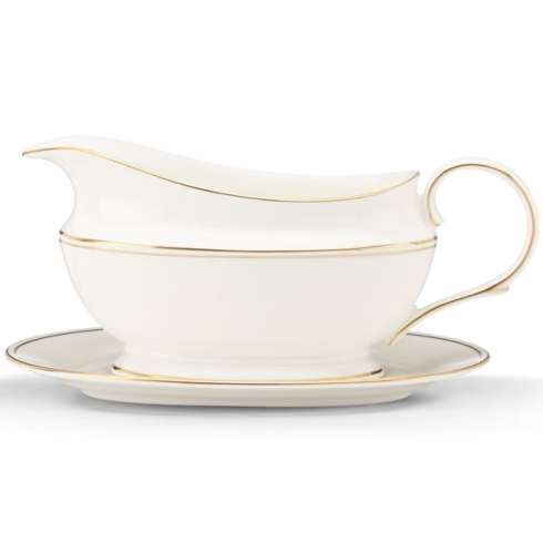 $286.00 Federal Gold Sauce Boat & Stand