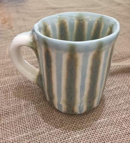 Good Earth Pottery   Teal Mug $29.00