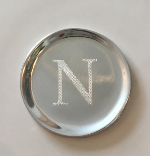 "$17.00 Mariposa napkin weight ""N"""