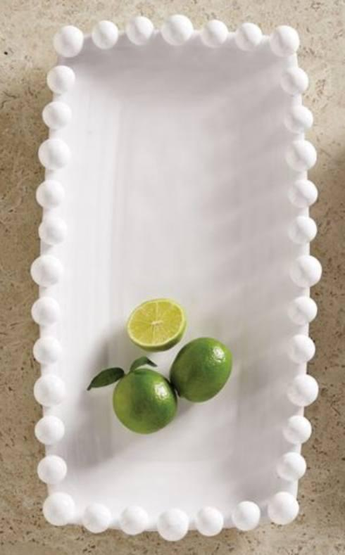 Camargo Exclusives   Small dotted rim platter/white $32.00