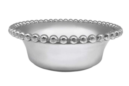 $59.00 Mariposa Pearled small open face bowl