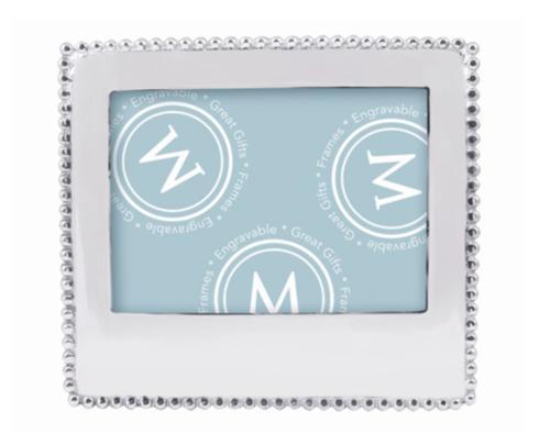 $89.00 Mariposa beaded 5x7 framed with custom engraving, horizontal