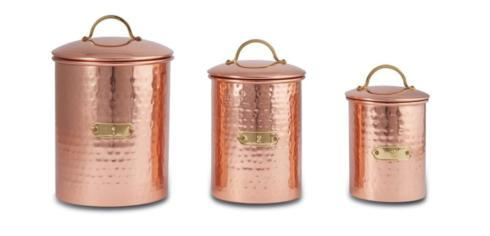 $90.00 Copper Canister Set