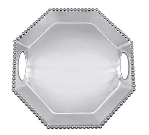 $139.00 Mariposa Octagonal string of pearls tray