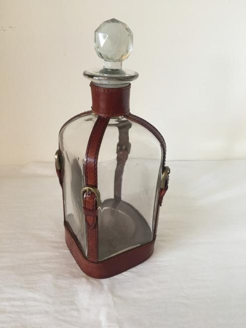 """Camargo Exclusives   10"""" Decanter with Leather Straps $85.00"""