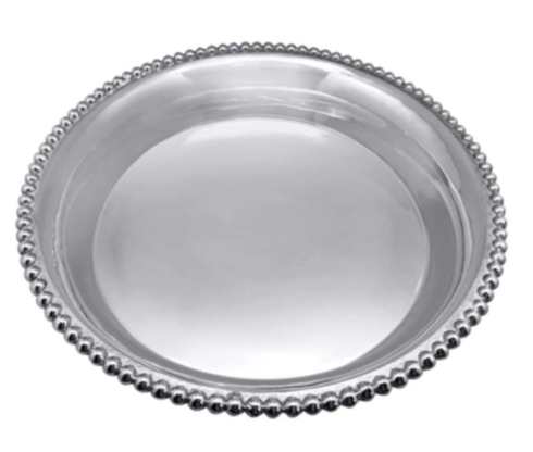 $275.00 Mariposa Pearled large open face bowl