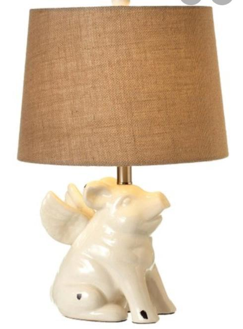 $125.00 Flying Pig Table Lamp