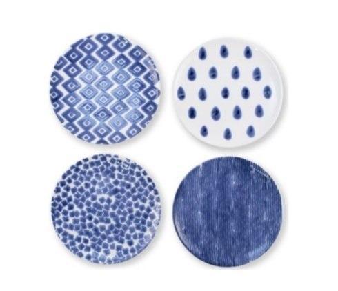 $18.00 Santorini Assorted Blue Salad Plates