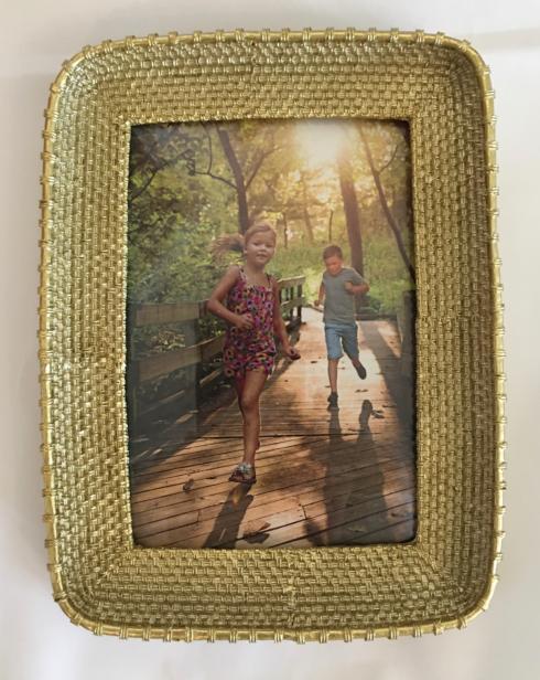 $25.00 Gold Basket Weave 5x7 frame