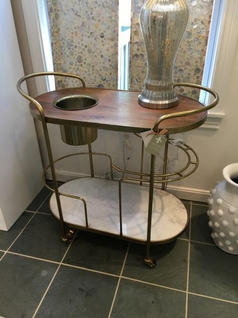 Camargo Exclusives   Gold and Marble Bar Cart $440.00