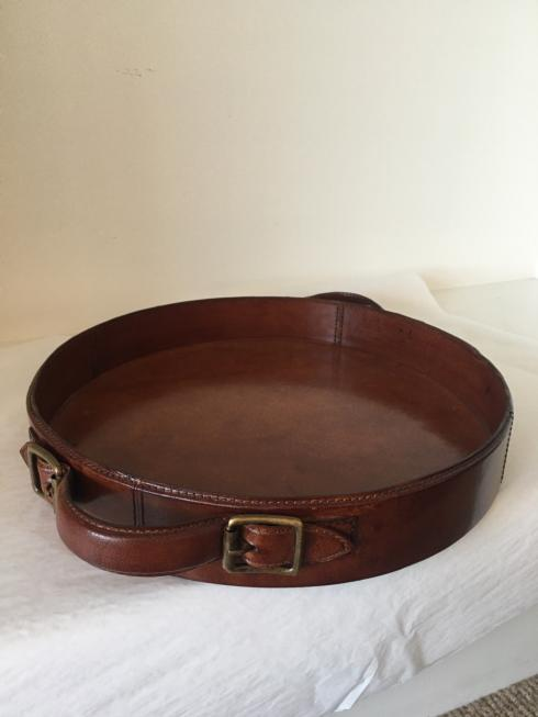 $175.00 Leather Tray with Buckles