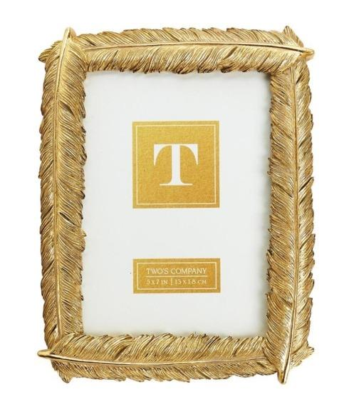 $35.00 Gold Feather Frame 5x7