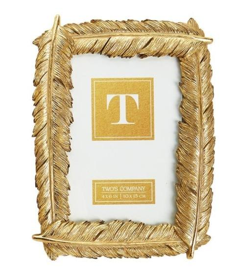 $25.00 Gold Feather Frame 4x6