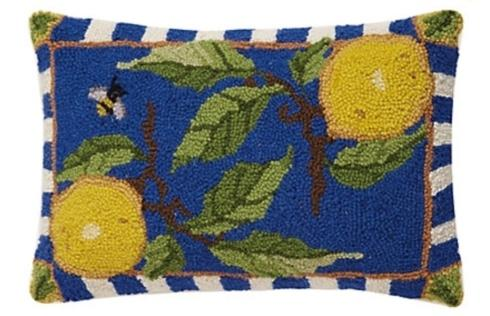$55.00 Lemon Needlepoint Pillow 12x18
