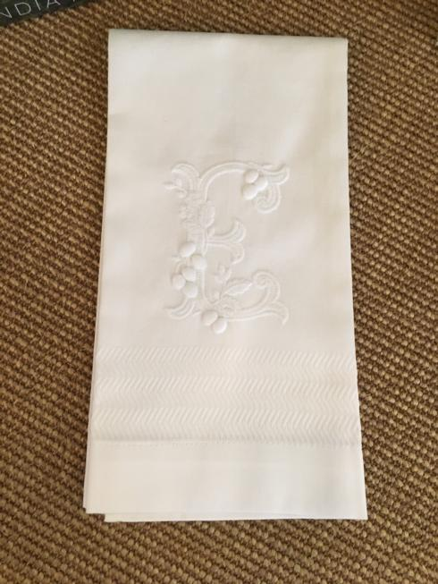 $30.00 Embroidered linen bath hand towels