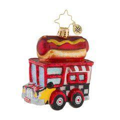 Christopher Radko   Hot Diggity Dog Little Gem  $30.00