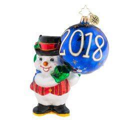 Christopher Radko  Snowman 2018 Was A Ball $56.00