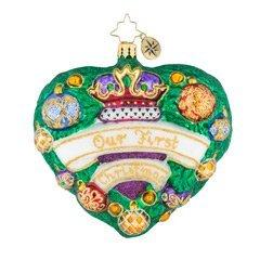 Christopher Radko  Wedding Evergreen Is My Heart $60.00
