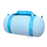 $28.00 Aqua Seersucker Medium Duffle