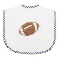 3 Marthas   Navy Football Large Bib  $28.00