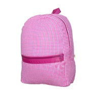 Hot Pink Gingham Med Backpack